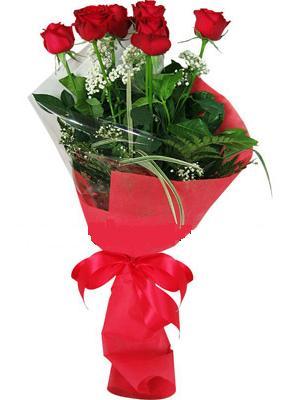 7 adet kirmizi gül buketi  Gümüşhane çiçek siparişi sitesi