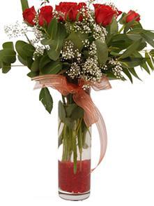 Gümüşhane çiçek yolla , çiçek gönder , çiçekçi   11 adet kirmizi gül vazo çiçegi