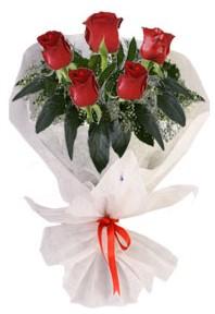 5 adet kirmizi gül buketi  Gümüşhane çiçek servisi , çiçekçi adresleri