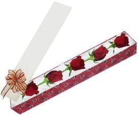 Gümüşhane çiçek online çiçek siparişi  kutu içerisinde 5 adet kirmizi gül