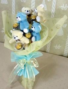 6 adet ayiciktan buket tanzimi  Gümüşhane online çiçekçi , çiçek siparişi