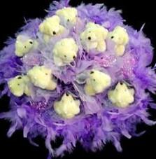 11 adet pelus ayicik buketi  Gümüşhane cicekciler , cicek siparisi