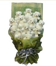 11 adet pelus ayicik buketi  Gümüşhane güvenli kaliteli hızlı çiçek