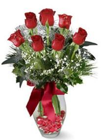 Gümüşhane çiçek mağazası , çiçekçi adresleri  7 adet kirmizi gül cam vazo yada mika vazoda