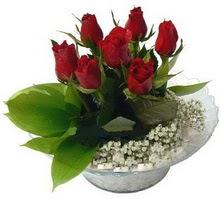 Gümüşhane çiçek online çiçek siparişi  cam yada mika içerisinde 5 adet kirmizi gül