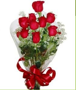 Gümüşhane çiçek yolla , çiçek gönder , çiçekçi   10 adet kırmızı gülden görsel buket
