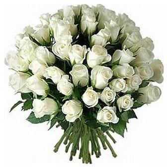 Gümüşhane çiçekçi telefonları  33 adet beyaz gül buketi