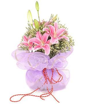 3 dal kazablanka görsel buketi  Gümüşhane çiçek online çiçek siparişi