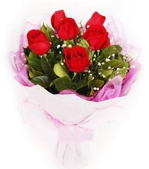 Gümüşhane çiçek yolla  kırmızı 6 adet gülden buket