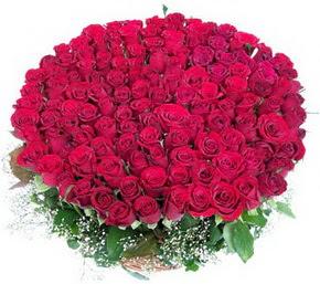 Gümüşhane çiçekçi mağazası  100 adet kırmızı gülden görsel buket