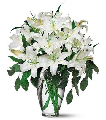 Gümüşhane çiçek online çiçek siparişi  4 dal kazablanka ile görsel vazo tanzimi