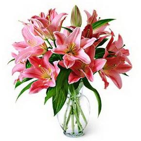 3 dal kazablanka görsel vazosu  Gümüşhane çiçek mağazası , çiçekçi adresleri