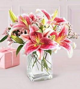 2 dal kazablanka görsel vazosu  Gümüşhane hediye sevgilime hediye çiçek