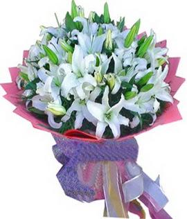 7 dal cazablanca görsel buketi  Gümüşhane anneler günü çiçek yolla