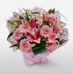 1 dal kazablanka ve kır çiçek görsel buketi  Gümüşhane çiçek online çiçek siparişi
