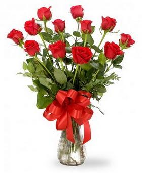 Gümüşhane cicekciler , cicek siparisi  12 adet kırmızı güllerden vazo tanzimi