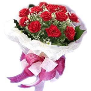 Gümüşhane cicek , cicekci  11 adet kırmızı güllerden buket modeli