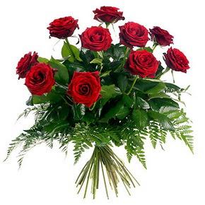 Gümüşhane çiçek siparişi vermek  10 adet kırmızı gülden buket