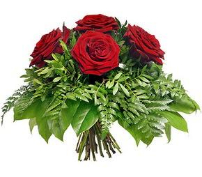 Gümüşhane çiçek satışı  5 adet kırmızı gülden buket