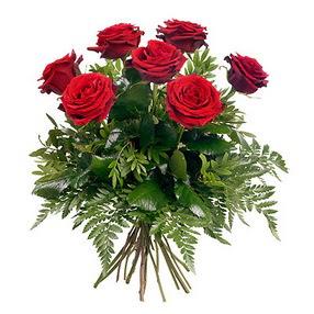 Gümüşhane güvenli kaliteli hızlı çiçek  7 adet kırmızı gülden buket