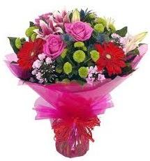 Karışık mevsim çiçekleri demeti  Gümüşhane güvenli kaliteli hızlı çiçek