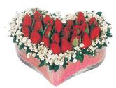 Gümüşhane online çiçek gönderme sipariş  mika kalpte kirmizi güller 9