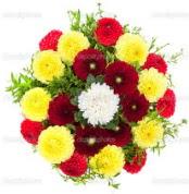 Gümüşhane anneler günü çiçek yolla  13 adet mevsim çiçeğinden görsel buket