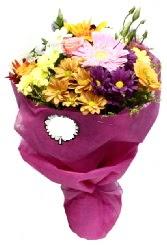 1 demet karışık görsel buket  Gümüşhane çiçek gönderme sitemiz güvenlidir