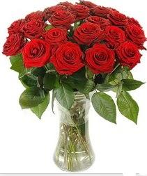 Gümüşhane çiçek satışı  Vazoda 15 adet kırmızı gül tanzimi