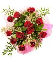 12 adet kırmızı gül buketi  Gümüşhane İnternetten çiçek siparişi