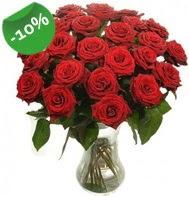 Vazo içerisinde 25 adet kırmızı gül  Gümüşhane yurtiçi ve yurtdışı çiçek siparişi