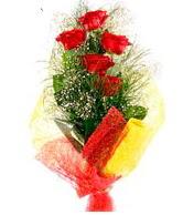 5 li kırmızı gül buketi  Gümüşhane çiçek online çiçek siparişi