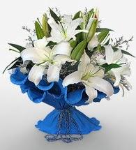 4 dal kazablanka çiçeğinden buket  Gümüşhane yurtiçi ve yurtdışı çiçek siparişi