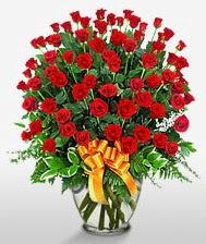 Görsel vazo içerisinde 101 adet gül  Gümüşhane yurtiçi ve yurtdışı çiçek siparişi