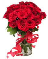 21 adet vazo içerisinde kırmızı gül  Gümüşhane cicek , cicekci