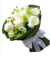 9 adet beyaz gül buketi  Gümüşhane hediye sevgilime hediye çiçek