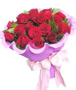 12 adet kırmızı gülden görsel buket  Gümüşhane anneler günü çiçek yolla