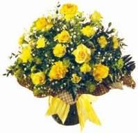 Gümüşhane cicekciler , cicek siparisi  Sari gül karanfil ve kir çiçekleri