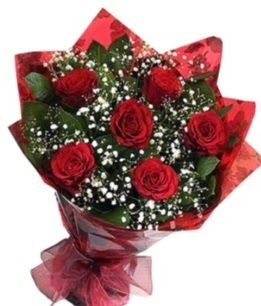 6 adet kırmızı gülden buket  Gümüşhane hediye çiçek yolla
