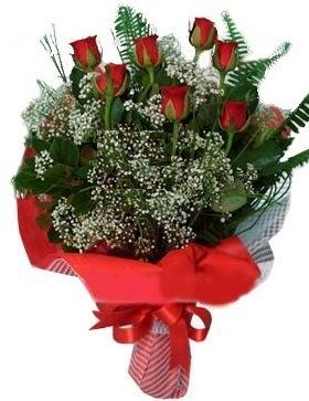 7 kırmızı gül buketi  Gümüşhane çiçekçi telefonları