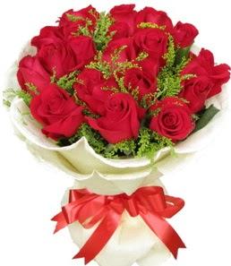 19 adet kırmızı gülden buket tanzimi  Gümüşhane çiçekçi telefonları