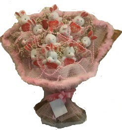 12 adet tavşan buketi  Gümüşhane çiçek satışı