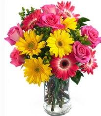 Vazoda Karışık mevsim çiçeği  Gümüşhane anneler günü çiçek yolla