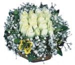 Gümüşhane çiçek servisi , çiçekçi adresleri  Beyaz harika bir gül sepeti
