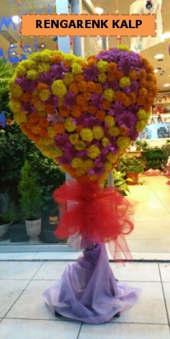 Ankara mevsim çiçeklerinden kalp perförje  Gümüşhane online çiçek gönderme sipariş