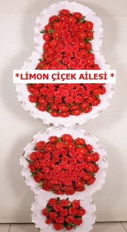 3 katlı kırmızı düğün açılış çiçeği  Gümüşhane çiçek siparişi vermek