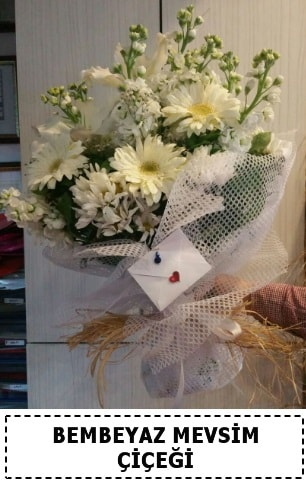 Bembeyaz görsel mevsim çiçek buketi  Gümüşhane internetten çiçek siparişi