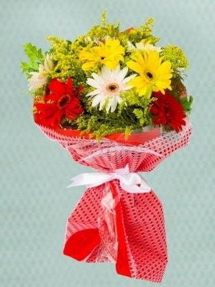 Karışık Gelbera Buketi  Gümüşhane hediye sevgilime hediye çiçek