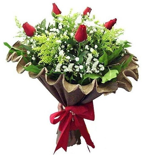 5 adet gülden buket  Gümüşhane çiçekçiler