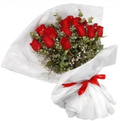 9 adet kırmızı gül buketi  Gümüşhane anneler günü çiçek yolla